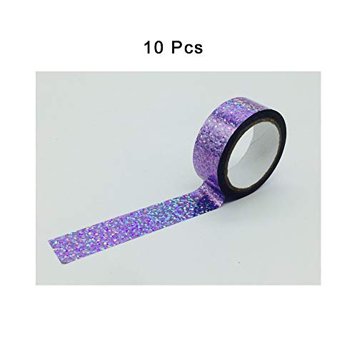 LYwz Reflective Tape,for Corner Beautification Decoration That Stationery,Books,Tables,Chairs,1.9cmx10m/0.06x32.8ft,10 Pcs,Violet