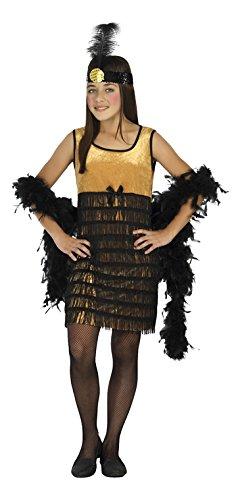 Atosa-20799 Disfraz Charleston, Color negro, 7 a 9 años (20799 ...