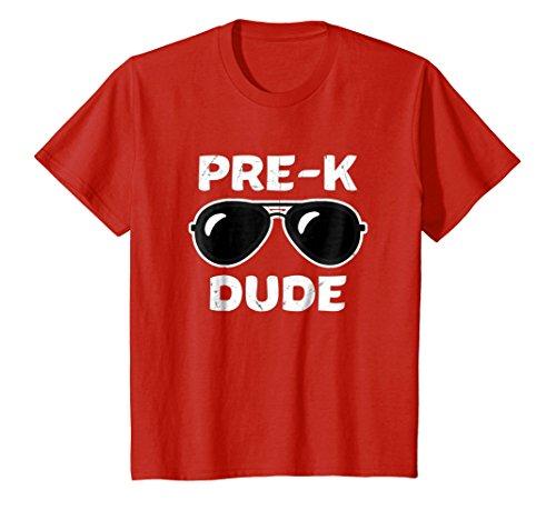 Kids Pre-K Dude First Day Kindergarten Back To School Toddler Tee 4 Red (Tee Toddler School)