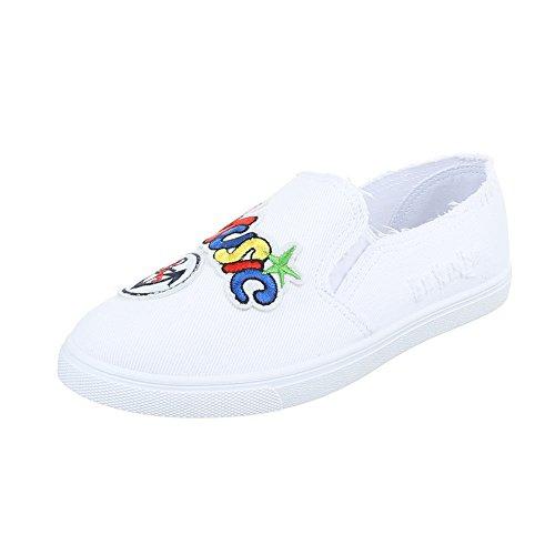 Ital-Design - Zapatillas de casa Mujer Weiß FC-V203