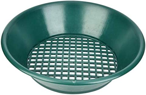 Tragbare Green Sifter Pan, Goldwasch-Kit für die Sand- und Goldsiebung
