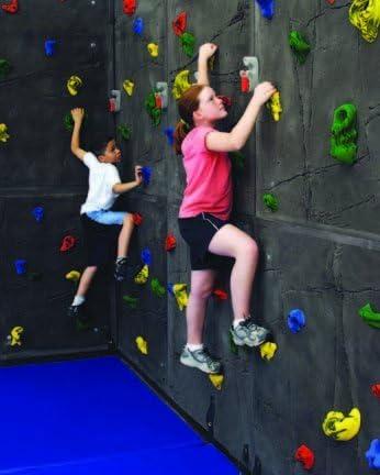Everlast 高さ8フィート x 幅4フィート 優れた岩 トラバース クライミング 壁パネル 20ハンドホールド