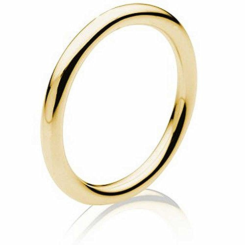 18K Yellow Gold Traditional Classic Women's Comfort Fit Wedding Band (1.5mm)