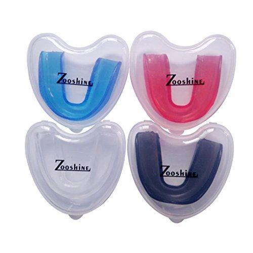 Zooshine 4 Sets Moldable Mouth Guards Box Package for Basketball,Boxing,Taekwondo,Football,Kickboxing - BPA Free Medical Silicone Material