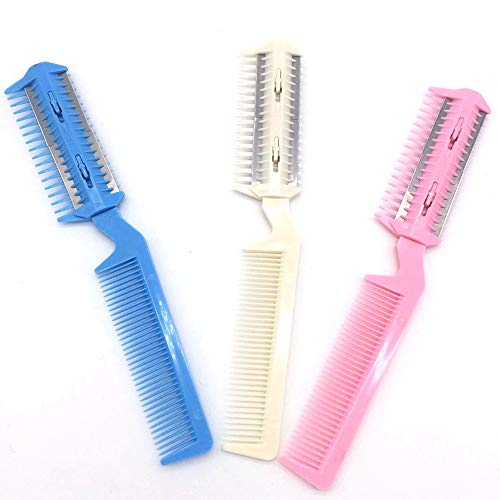 (IslandsePet Hair Trimming Razor Grooming Comb Blades Thinning Dog Cat Hairdressing Tool)