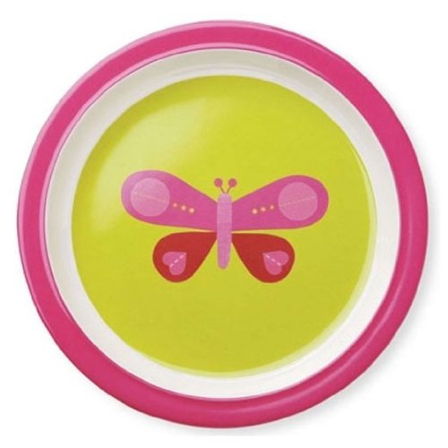 Crocodile Creek Pink Butterfly Plate by Crocodile Creek