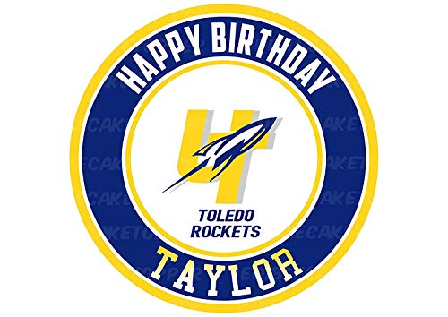 Toledo Rockets Edible Cake Topper Personalized Birthday 8
