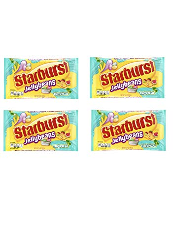 Starburst Tropical Jelly Beans Easter Candy - Pack of 4 Bags - 14 oz per Bag
