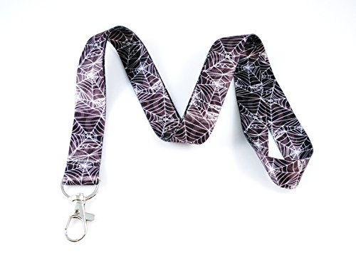 Halloween Themed Lanyard Key Chain Id Badge Holder (Spider Webs) -