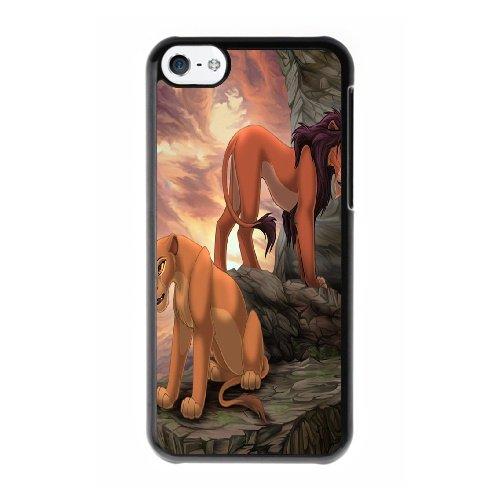 Coque,Coque iphone 5C Case Coque, The Lion King Cover For Coque iphone 5C Cell Phone Case Cover Noir