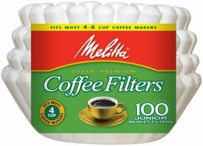 (Melitta Junior Basket Coffee Filters White 100 Count)