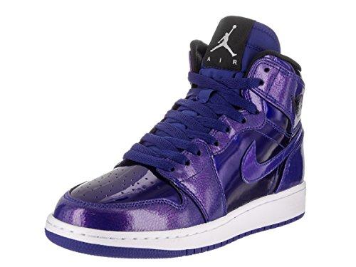 NIKE Jordan Kids Air Jordan 1 Retro High BG Deep Royal Blue/Black/White Basketball Shoe 5.5 Kids US