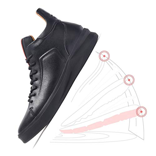 ARTISURE Men's Classic Black Genuine Leather High-Top Casual Sneakers Fashion Ankle Boots 10 M US SKS-1019HEI100 by ARTISURE (Image #2)