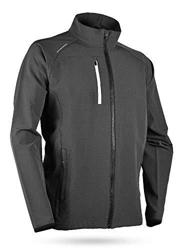Sun Mountain 2019 Men's Isotherm Golf Jacket Steel-White Large ()