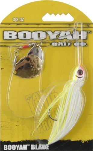 BOOYAH Double Colorado Blade - White/Chartreuse - 3/8 oz