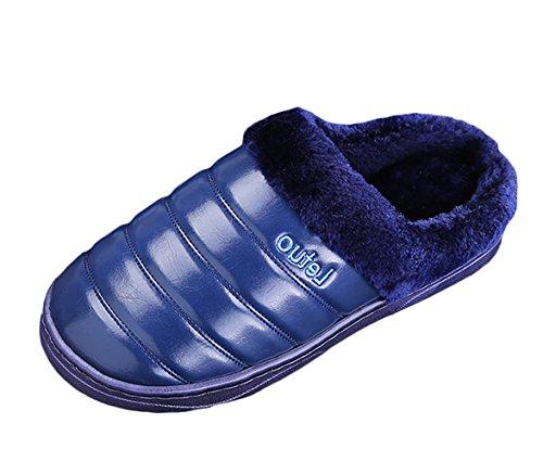 Insun Slippers Voor Heren Winter Indoor Outdoor Blauw