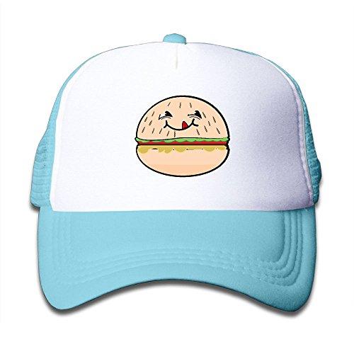 Elephant AN Cute Hamburger Face Mesh Baseball Cap Kid Boys Girls Hat (Crazy Chef Costume)