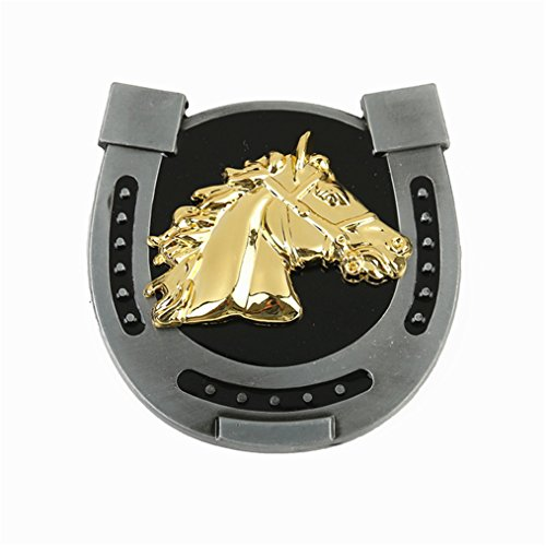 MASOP Horseshoe Horse Head Belt Buckle Western Gold Metal Belt Buckles Suitable from MASOP VOGU
