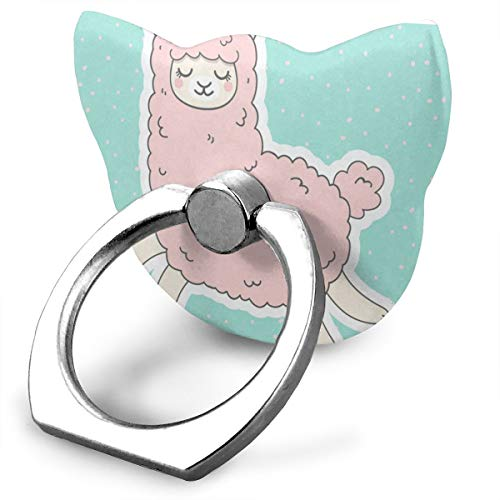 TRISTEA Cell Phone Stand Cute Unicorn Lama Custom Personalized Finger Ring Holder, 360° Rotation Universal Mount Stand Grip for iPhone 8/7 / 7 Plus / 6/6 Plus / 6s / 6s Plus/SE / 5 /5s / 4 / 4s