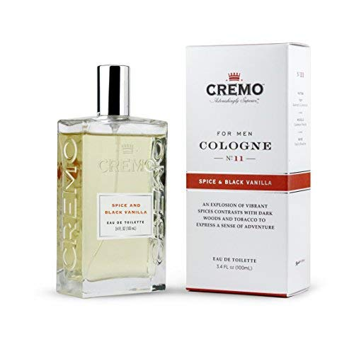 Cremo Cologne Spray, Spice & Black Vanilla, 3.4 Ounce