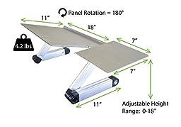 Uncaged Ergonomics WorkEZ Keyboard Tray & Mouse Pad, Adjustable Height & Angle Ergonomic Standing Computer Keyboard Stand, Black (WEKTb)