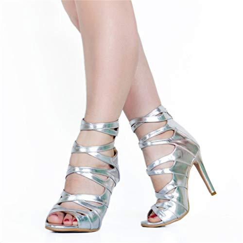 con Shoes straps Party alto Office Fashion Peep da tacco donna Black Kolnoo toe Sandali X 5B1qwR