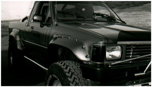 Bushwacker 31009-11 Cut-Out Fender Flares 84-88 Toyota Pickup Front (Toyota 4runner Fender Flares compare prices)
