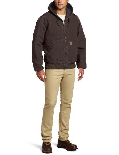Carhartt Men's Sandstone Active Jacket,Dark Brown,X-Large