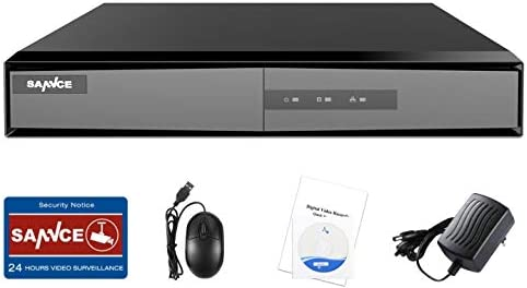 SANNCE 8Channel 1080n DVR Security System with Motion Detect and Email Alert Function, NO HDD Included