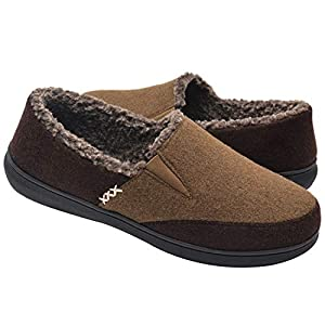Zigzagger Men's Fuzzy Microsuede Moccasin Home Slippers Fluffy House Shoes Indoor/Outdoor Footwear