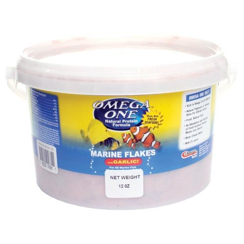 Product image of Omega One Garlic Marine Flakes Fish Food 12-oz.