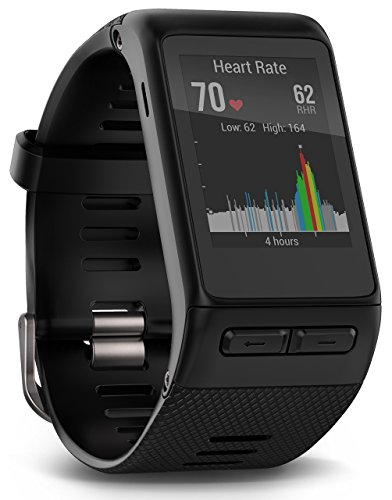(Garmin vívoactive HR GPS Smart Watch, X-large fit - Black (Certified Refurbished))