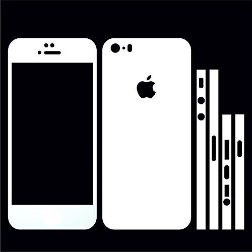 IPHONE 5S WEISS MATT FOLIE SKIN ZUM AUFKLEBEN bumper case cover schutzhülle i phone