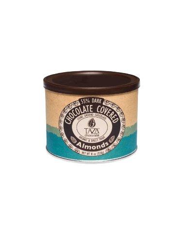 Taza Chocolate Organic Chocolate Covered Almonds, 55% Dark Chocolate, 8 Ounce (Pack of 1), Vegan
