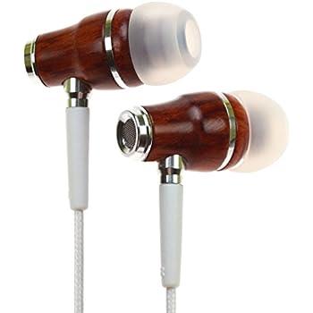 Symphonized Nrg Premium Wood Noise-Isolating Headphones with Mic, White
