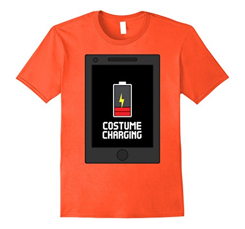 Mens Cell Phone Costume Cute Halloween Shirts Adults Teens Kids 2XL Orange