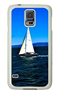 Samsung Galaxy S5 Case Cover - Ocean Hard Case Cover For Samsung Galaxy S5 - PC White