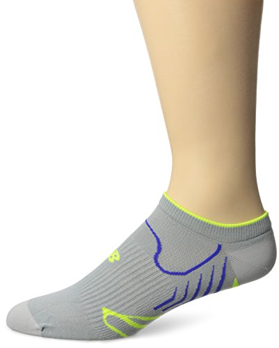 New Balance Unisex 1 Pack Technical Elite NBx Sprinter No Show Socks Grau/Gelb