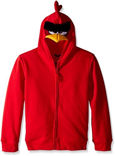 Angry Birds Little Boys Bird Costume Hoodie, Red, Small/4