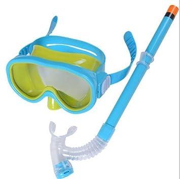 Hivel Ninos Gafas Buceo Submarino Set de Snorkel Mascara Tubo Respirador - Lago Azul