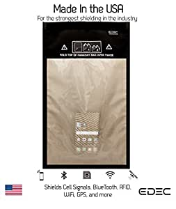 Black Hole Faraday Bag - RF Signal Isolation for Forensics, Large Window Size - Signal Blocking, Anti-tracking, Anti-spying, Radiation protection for Cell Phones, Key Fobs and Credit Cards