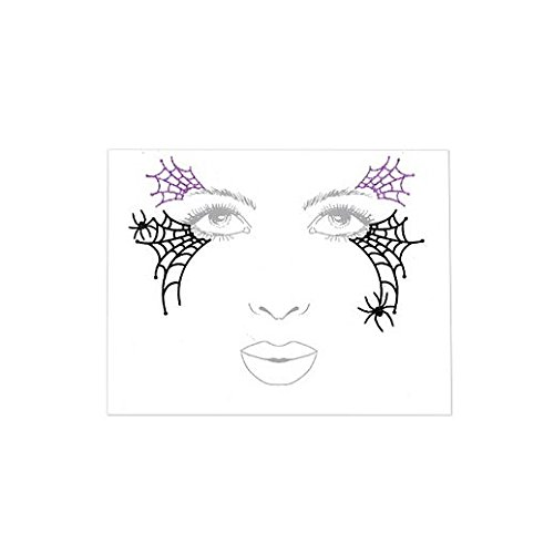 Amazon Com Fancy Face Paint Color Halloween Witch Face Decal Baby
