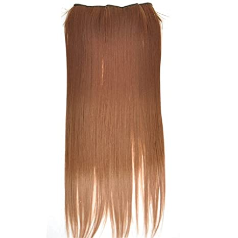 Sodial - Peluca (60 cm, de pelo liso y castaño claro): Amazon.es: Juguetes y juegos