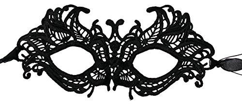 Luxury Mask Antique Look Venetian Party Mask (One Size, Luxury Mask 15 Black Regular Ribbon)