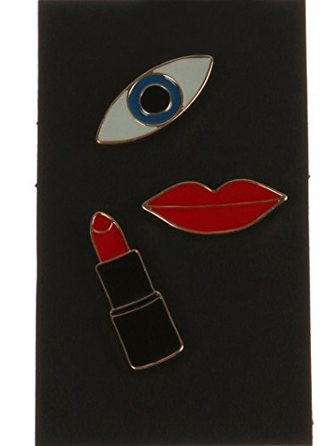 Multi make up 3 pc pin and brooch Fashion Jewelry (Makeup Brooch)