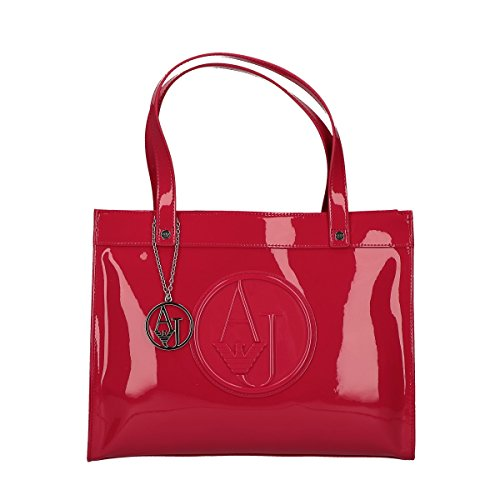 Armani Jeans shopping bag woman Pvc Plastica Geranium