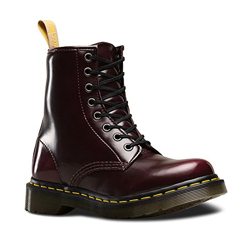 Dr. Martens R24226600 Veganistisch 1460 Laars Dames, Cherry Red Cambridge Brush - 9 Vk / 11 B (m) Us
