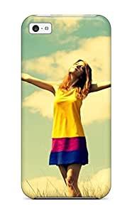 1887242K64697706 For Iphone 5c Protector Case Happy Girl Phone Cover