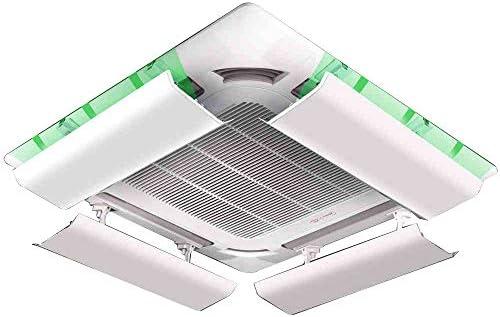 Deflector De Aire Acondicionado para Techo Aire Acondicionado Central, Evita El Soplado De Aire Directo, áNgulo Ajustable, Adecuado para 40-100cm, Acero PláStico (Pieza úNica) Yingpai: Amazon.es: Hogar
