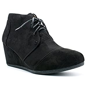 Premier Standard Fashion Casual Outdoor Low Wedge Heel Booties Shoes